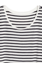 Top in jersey - Bianco/nero righe - DONNA | H&M IT 3