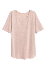 Jersey top - Light pink marl -  | H&M 2