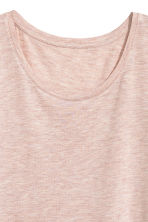Jersey top - Light pink marl -  | H&M CA 3