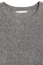 Knitted jumper - Black/White marl - Ladies | H&M 3