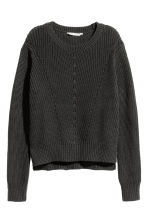 Knitted jumper - Black - Ladies | H&M 2