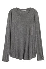 Long-sleeved top - Dark grey marl - Ladies | H&M 2