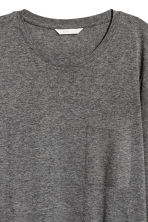 Long-sleeved top - Dark grey marl - Ladies | H&M 3