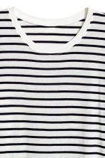 Long-sleeved top - White/Black striped - Ladies | H&M GB 3