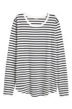 Long-sleeved top - White/Black striped - Ladies | H&M GB 2