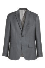 Wollen blazer - Regular fit - Donkergrijs - HEREN | H&M BE 2