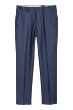 Wool suit trousers Regular fit - Navy blue - Men | H&M 2