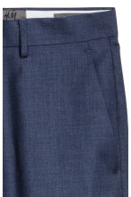 Wool suit trousers Regular fit - Navy blue - Men | H&M 4