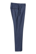 Wool suit trousers Regular fit - Navy blue - Men | H&M 3