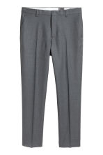 Wool suit trousers Regular fit - Dark grey - Men | H&M CN 2