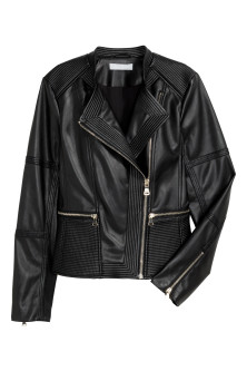 Fitted biker jacket