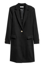 Lyocell coat - Black - Ladies | H&M 2