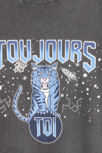T-shirt con motivo - Nero washed out/tigre - DONNA | H&M IT 3
