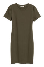 Jersey dress - Dark khaki green - Ladies | H&M 2