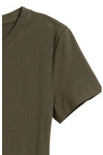 Jersey dress - Dark khaki green - Ladies | H&M CN 3