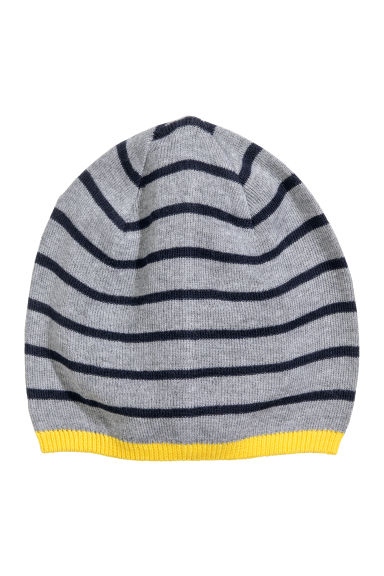 Cotton-blend hat - Grey/Striped - Kids | H&M CN 1