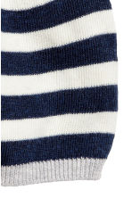 Cotton-blend hat - Dark blue/Striped - Kids | H&M CN 2