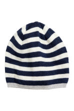 Cotton-blend hat - Dark blue/Striped - Kids | H&M 1