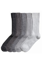 5-pack rib-knit socks - Black/Grey - Men | H&M CN 1