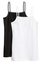 2-pack jersey tops - Black -  | H&M CN 2