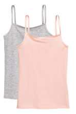 Lot de 2 tops en jersey - Rose poudré -  | H&M FR 1