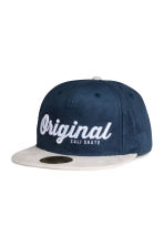 Cap with embroidered text - Dark blue -  | H&M 1