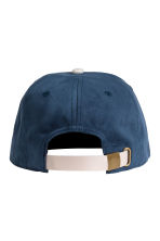 Cap with embroidered text - Dark blue -  | H&M 2