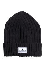 Rib-knit hat - Black - Kids | H&M 1