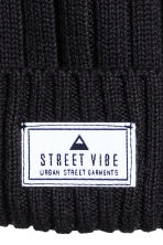 Rib-knit hat - Black - Kids | H&M 2