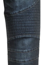 Biker jeans - Dark denim blue - Men | H&M CN 4