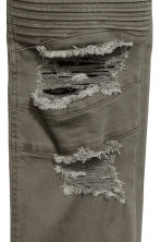 Biker jeans - Dark khaki green - Men | H&M 4