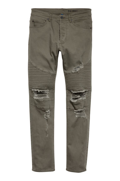Biker jeans - Dark khaki green - Men | H&M IE