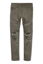 Biker jeans - Dark khaki green - Men | H&M CN 2