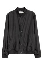 Nylon bomber jacket - Black - Men | H&M 2