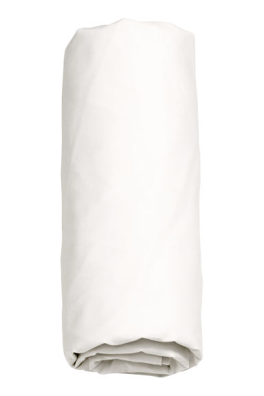 Washed cotton fitted sheet - White - Home All | H&M CN
