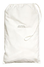 Washed cotton fitted sheet - White - Home All | H&M CN 2