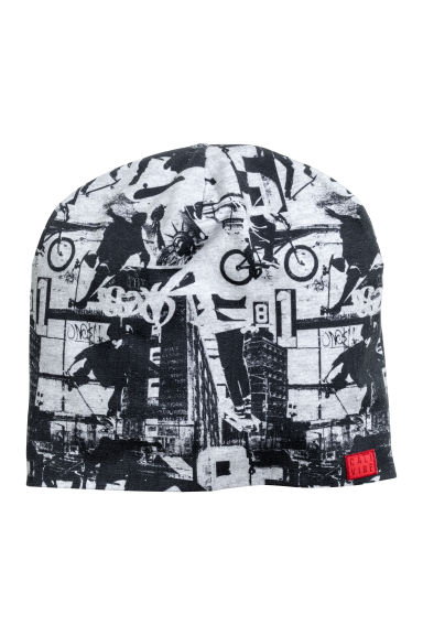 Jersey hat - Grey/Patterned - Kids | H&M CN 1