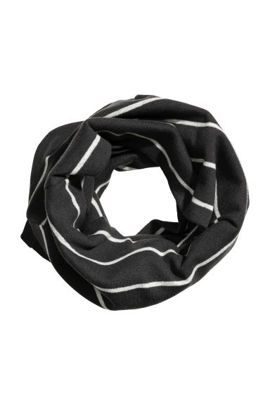 Jersey tube scarf - Black/Striped -  | H&M 1