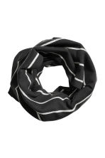 Jersey tube scarf - Black/Striped - Kids | H&M CA 1