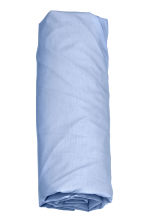 Cotton fitted sheet - Pigeon blue - Home All | H&M CN 2