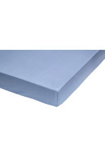 Cotton fitted sheet - Pigeon blue - Home All | H&M CN 3
