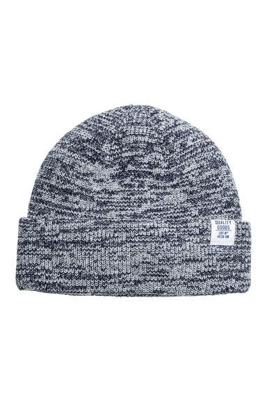 Fine-knit hat - Dark blue marl - Kids | H&M 1