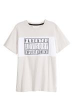Light beige/Parental Advisory