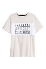 T-shirt con stampa - Beige chiaro/Parental Advisory -  | H&M IT 2