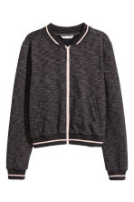 Sweatshirt jacket - Black marl -  | H&M 2