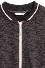 Sweatshirt jacket - Black marl -  | H&M 3