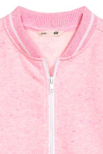 Sweat zippé - Rose chiné -  | H&M FR 3