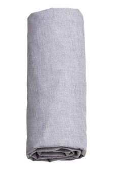 Cotton chambray fitted sheet