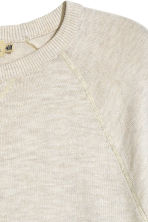 Fine-knit jumper - Natural white marl - Men | H&M CN 3