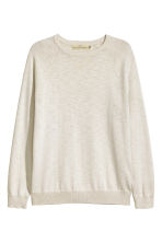 Fine-knit jumper - Natural white marl - Men | H&M CN 2